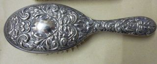 Broadway & Co - Solid Silver Hair Brush - Birmingham 1973 Bi - Centenary Hallmark photo