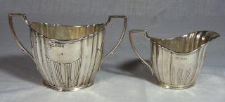 Antique Sterling Silver Cream Sugar Hallmark H.  W Henry Wigfull England photo