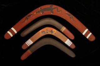 Group Of 4 Retro Returning Boomerangs 70s photo