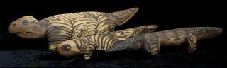 Three Aboriginal Carved Animals Central Australia 1960s photo