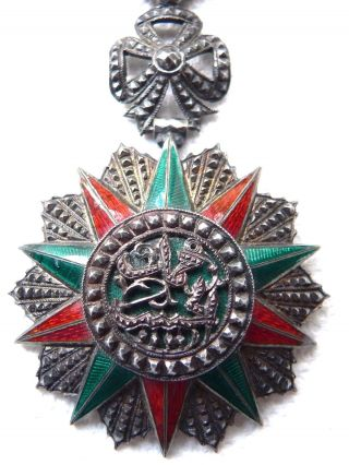 Tunisia Order Of Nichan Iftikar (order Of Glory) Officer ' S Badge Medal 1922 - 29 photo