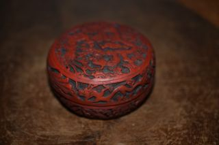 Antique Chinese Dragon Cinnabar Box - 清朝 (qing Dynasty) photo