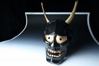 Japanese Handmade Hannya Mask Noh Kyougen Kagura Demon Mask Bugaku photo