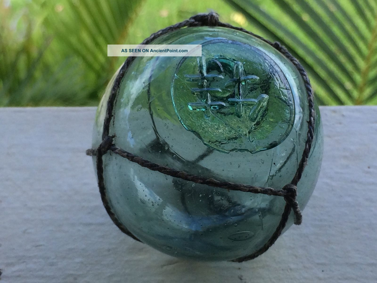 Japanese Glass Fishing Float.  2 1/2