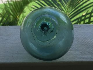 Japanese Glass Fishing Float.  3 1/4 165.  And Heavy. photo