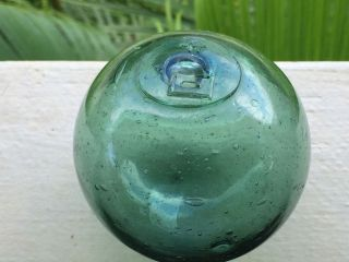 Japanese Glass Fishing Float.  3 1/4 123.  And Heavy. photo
