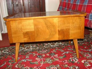 Vintage Retro Arnold Teak Sewing Box/coffee Table 1960 ' S Rare photo