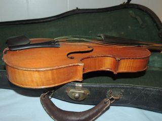 Antique German Stradivarius Violin With Case photo
