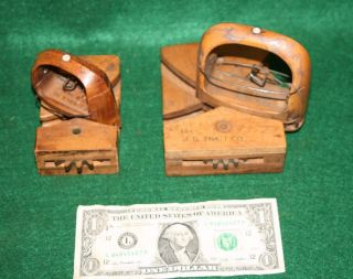 Two Industrial Weaving Pa Stetson Hat Factory Wood Shuttle Bobbins: Riehl & Son photo