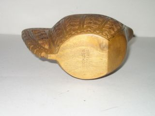 Hand Carved Small Wooden Pitcher Ale Bowl From Yugoslavia 5 1/2