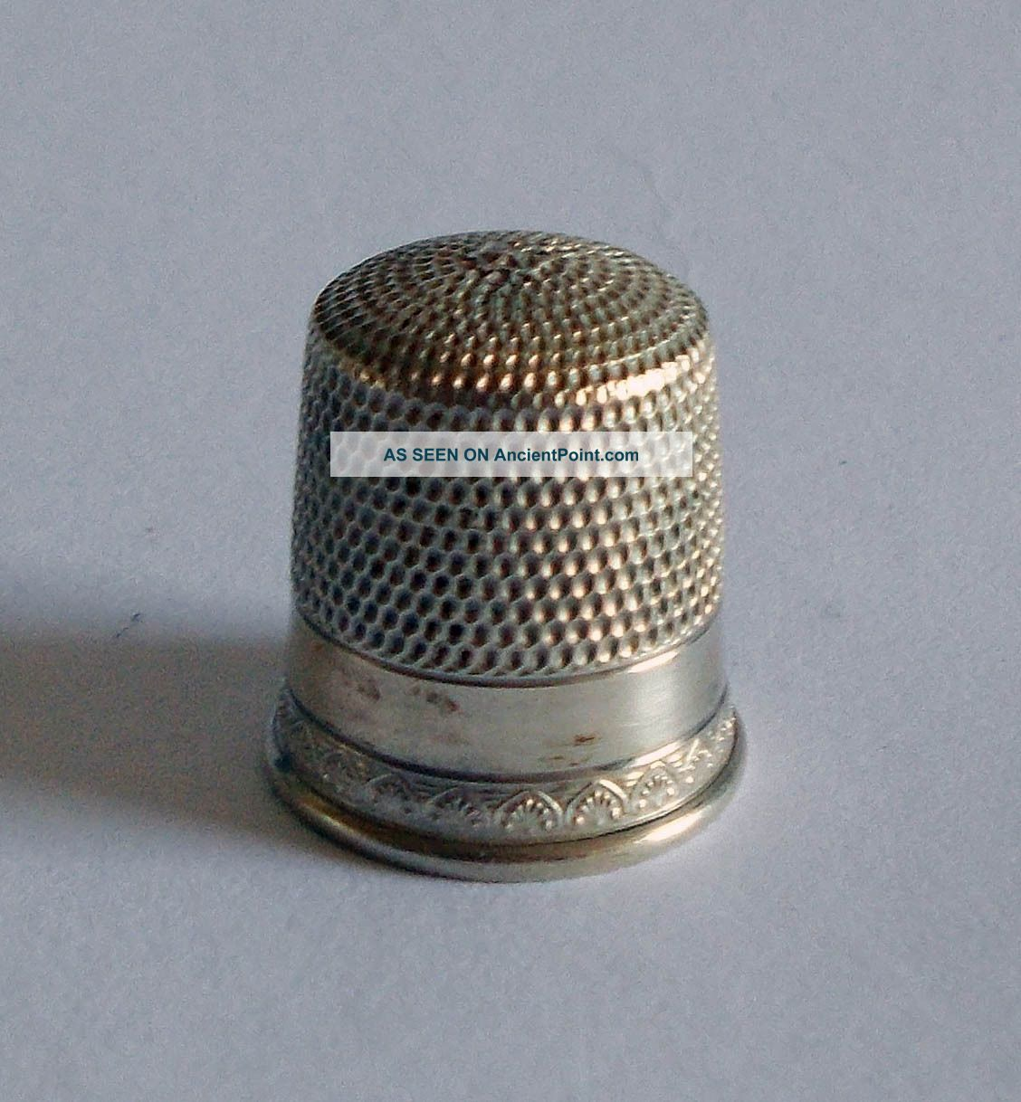 Sterling Silver Thimble - Simons - Utilitarian With Anthemion Thimbles photo