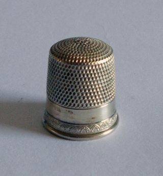 Sterling Silver Thimble - Simons - Utilitarian With Anthemion photo