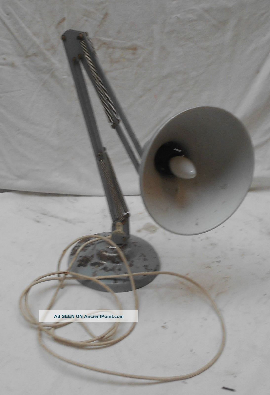 Rare,  Retro Grey Angle Poise Lamp Fully Vintage 87cms Needs Rewire 20th Century photo