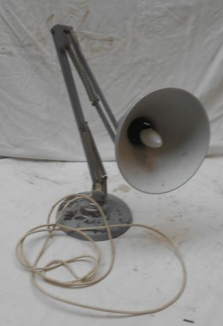 Rare,  Retro Grey Angle Poise Lamp Fully Vintage 87cms Needs Rewire photo