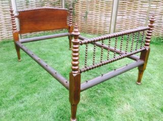 Victorian 1850s Jenny Lind Style Scotch Bobbin Spool Double Bed Delivery photo