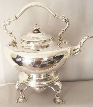 Rare William 1v Period Silver Spirit Kettle.  Edinburgh C1833.  65.  5 Troy Oz photo