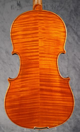 Old Violin,  Geige,  Violon Around 1900,  Strong Flamed Back And Ribs. photo