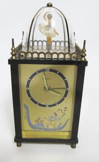 Vintage Diminutive Thorens Movement Ballerina Waves Of The Danube Desk Clock Yqz photo