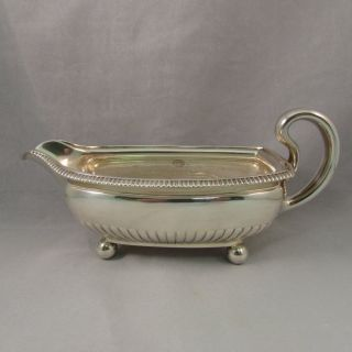 Antique Tiffany & Co.  Silver Soldered Footed Gravy Boat photo