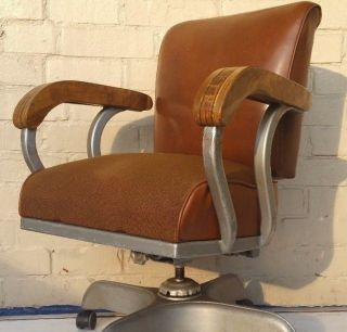 Goodform Comfort Master Styled Industrial Age Arm Chair - Woody Is photo