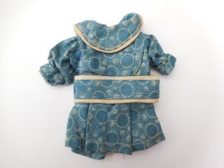 Antique Early Primitive Small Blue Calico Rag Or China Doll Dress Hand Sewn Old photo