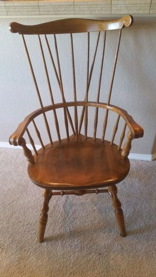 Windsor Fiddle Back Arm Chair Nichols & Stone Solid Maple / Color Old Pine photo