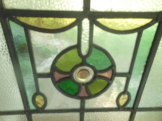 Jf56 Lovely Older Multi - Color English Leaded Stained Glass Window photo
