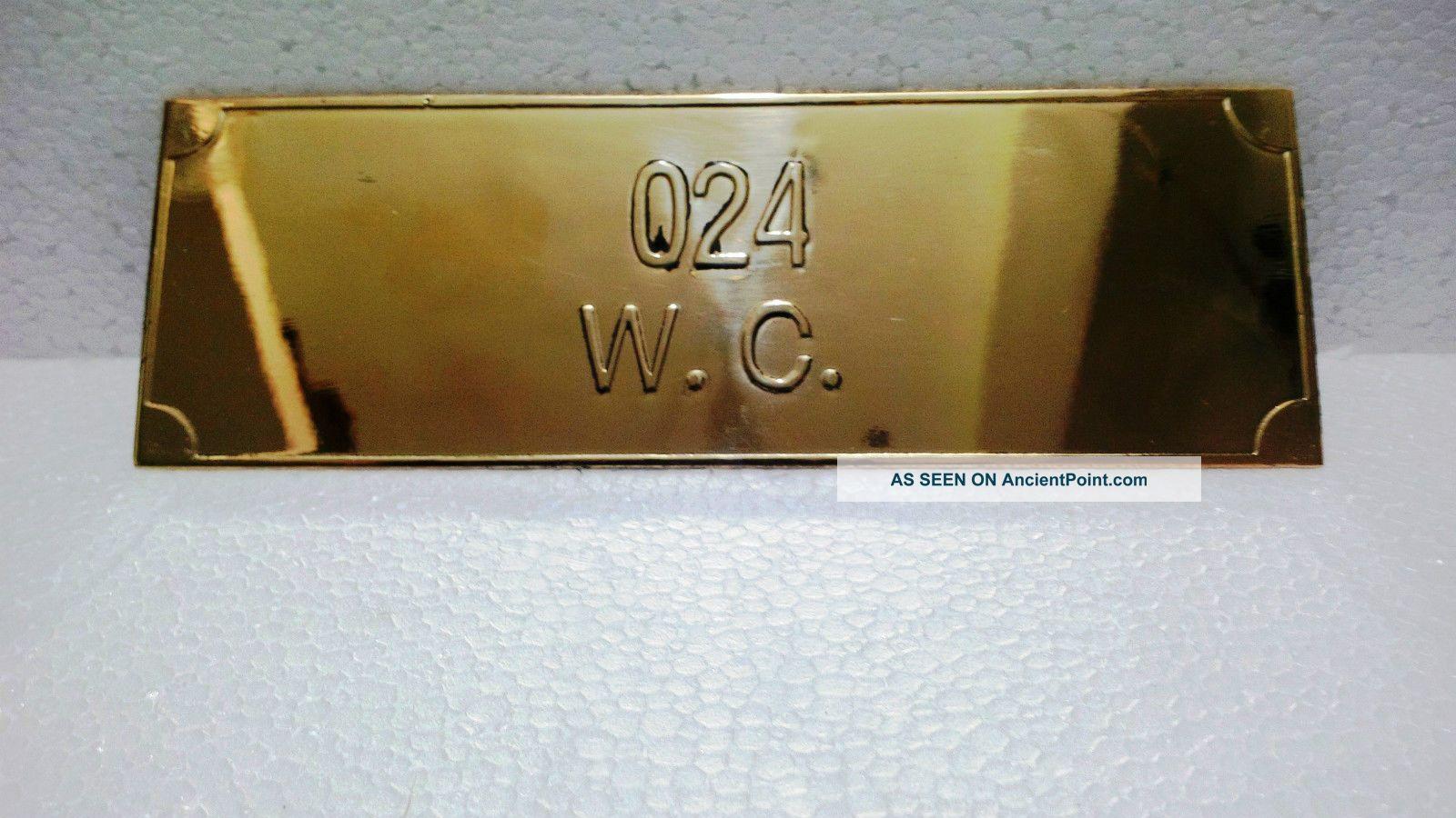 Vintage Maritime Marine Ship Plaque & Signs Brass Door Number Plaque Plaques & Signs photo