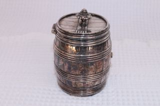 Silverplate Small Barrel Metropolitan Museum Of Art Reproduction 3