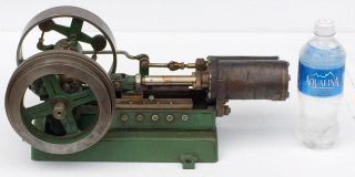 Outstanding,  Small & Early Stationary Horizontal Single Cylinder Steam Engine Nr photo