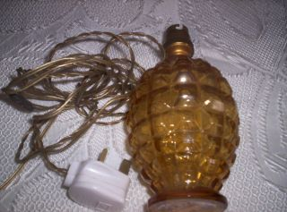 Vintage 1940 \1950 Glass Lamp Base [amber] photo