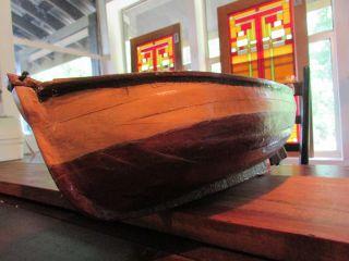 Handmade Artist Made Wood Boat photo