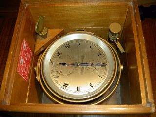 Thomas Mercer / Vintage Marine Chronometer 22508 Inoperative photo