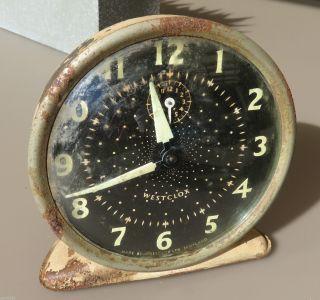 Vintage - Westclox Windup Clock - Made In Scotland - Not photo