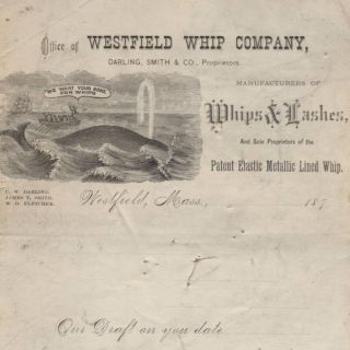 C1870 Westfield Whip Company,  Westfield Ma,  Maritime Whaling For Bone For Whips photo