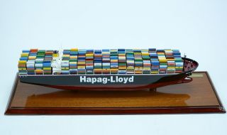 Dallas Express Container Ship With Display Case - Wooden Ship Model photo