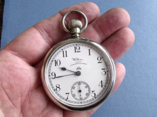 Rare Ww2 Royal Navy Bravingtons Deck Pocket Watch ' Waltham Vanguard 23j ' Gwo photo