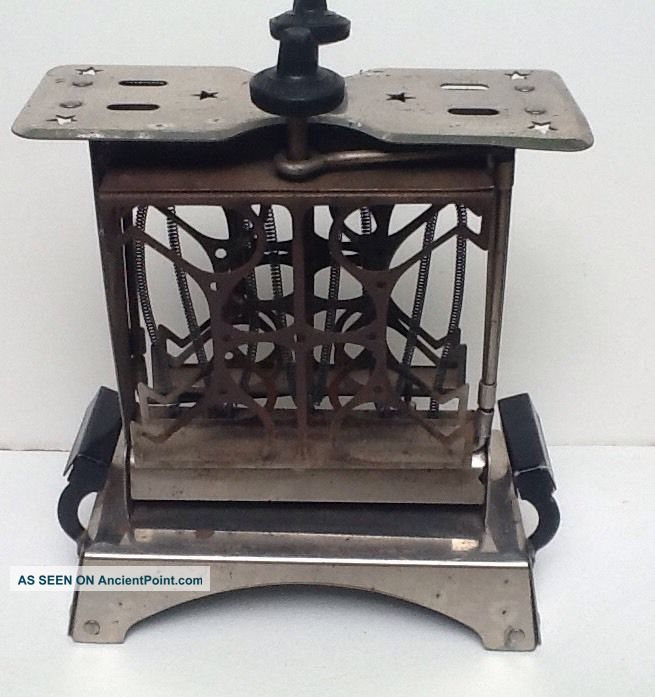 Rare Vintage/antique Star Electric Toaster,  Fitzgerald Co.  Conn.  Swing Out Toasters photo