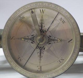 Antique Surveyors Level,  Brass By Troughton,  London,  Antique Compass,  Pre 1826 photo