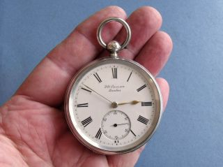 Lovely Silver ' Ludgate ' Pocket Watch ' J.  W.  Benson,  London ' - 1893/4 photo