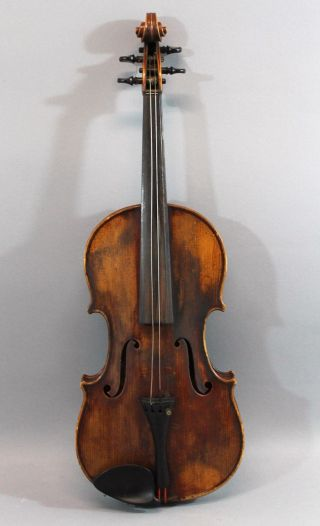 Antique Early - 20thc Rudolph Wurlitzer,  Figured Maple 4/4 Violin,  Nr photo