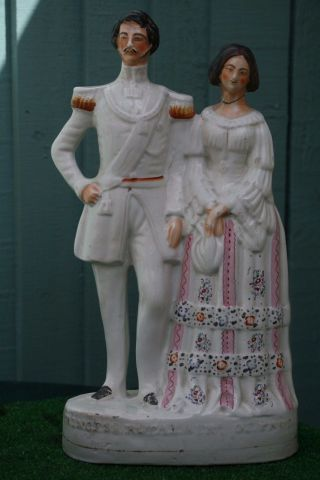 Mid 19thc Staffordshire Princess Royal & Frederick William Of Prussia C1857 photo