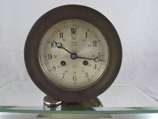 Vintage Salem Ship's Bell Wind - Up Clock – Heavy Brass Marine photo