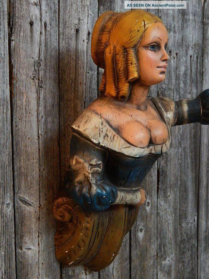 Vintage Ship Figurehead Women Bust Nautical Decor Aflco Ny Folk Art Nr Folk Art photo