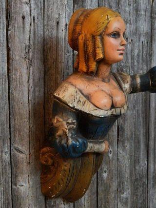 Vintage Ship Figurehead Women Bust Nautical Decor Aflco Ny Folk Art Nr photo