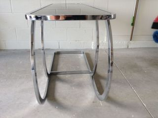Vintage Milo Baughman Dia Console Table Signed Mid - Century Modern photo