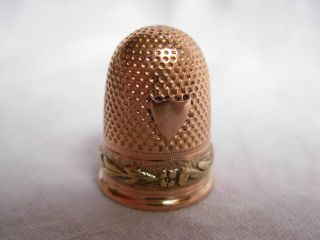 Antique French Solid Gold 18k Thimble,  First Empire,  Early 19th Century. photo
