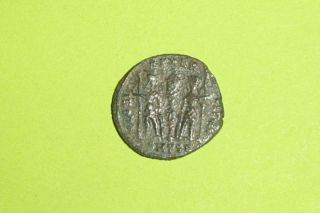 Ancient Roman Coin Of Constantius Ii Soldiers Military Standard Tool Vg Old Deal photo