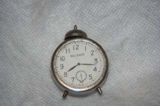Alarm Clock Spring Tape Measure,  Antique Novelty,  Metalfigural photo