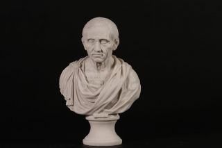 Roman Emperor Brutus Bust Carrara Marble Sculpture Home Decor.  Made In Uk photo